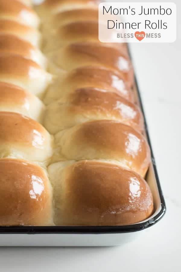 The best big and soft dinner rolls that my mom has been making for years. The dough is extra soft and tender thanks to the addition of butter, milk, and eggs!