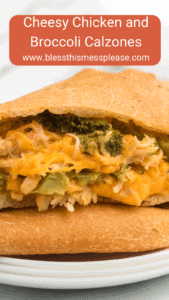 Cheesy chicken and broccoli calzones are gooey bites of pizza-reminiscent goodness that are easy to make and enjoy!