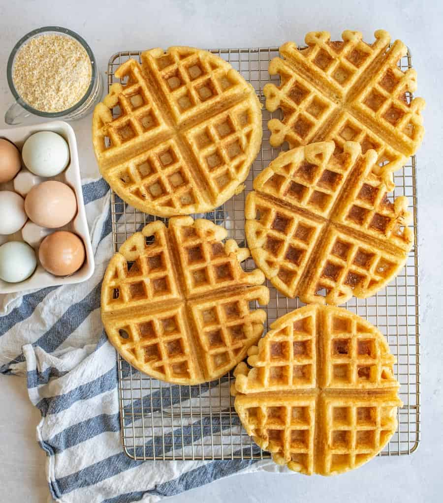 Best Cornbread Waffles with Pulled Pork, Beans, and Slaw Recipe