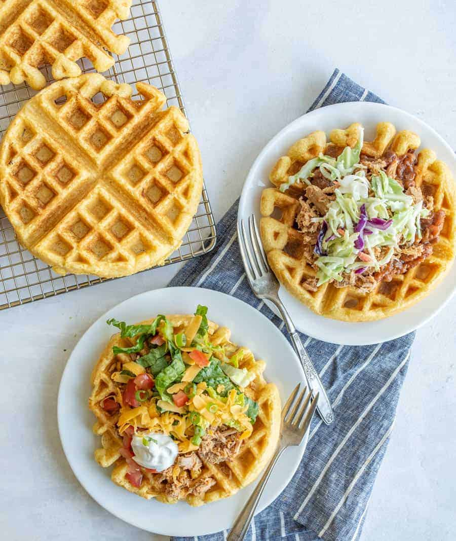 Easy Cornbread Waffles Recipe