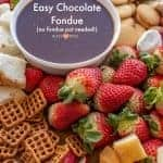 Homemade Chocolate Fondue Recipe | Easy Chocolate Dessert Idea!