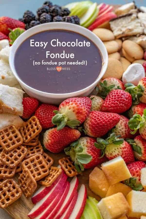Homemade Chocolate Fondue Recipe   Easy Chocolate Dessert Idea!