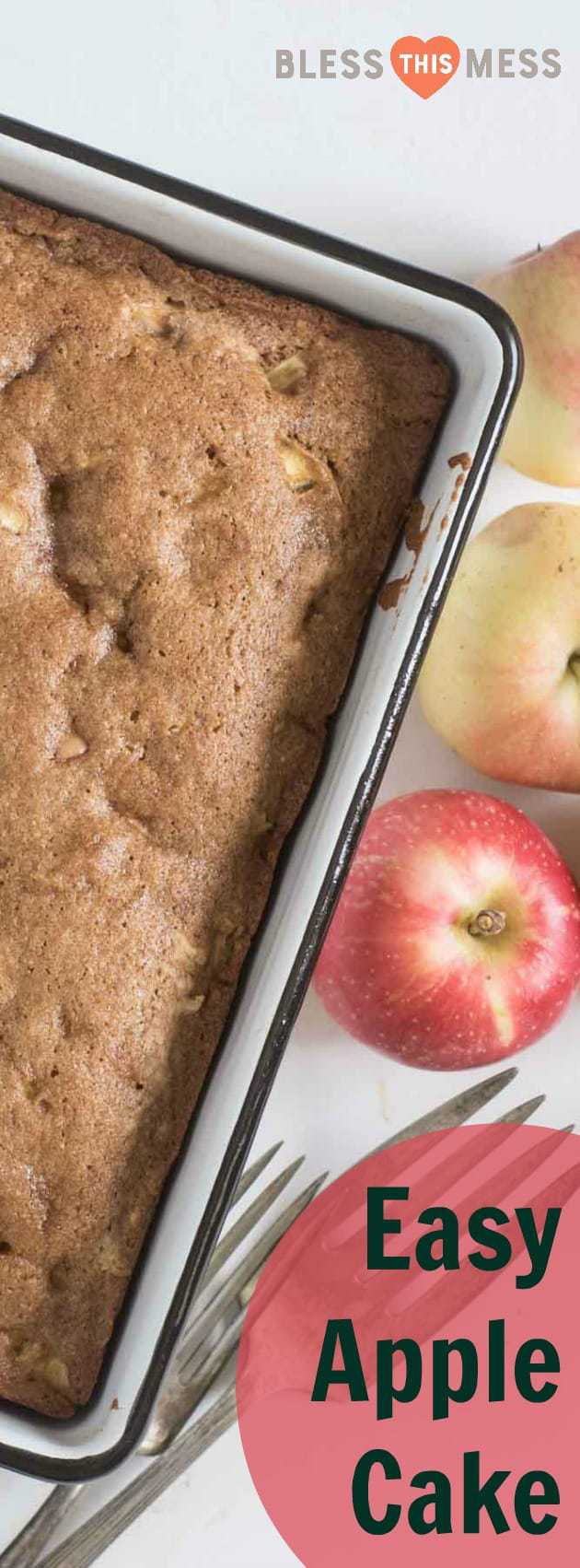 </p> <div>The best easy apple cake is made with fresh chopped apples, whole wheat flour, eggs, and a few other simple ingredients you already have on hand!</div> <p>