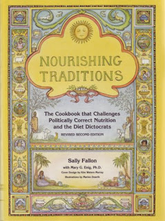 Image of a cookbook titled Nourishing Traditions