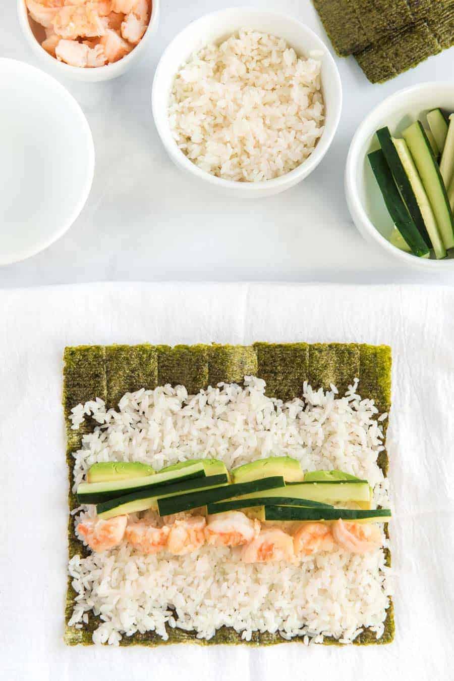 easy shrimp sushi recipe how to image