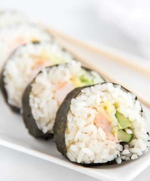 easy shrimp sushi