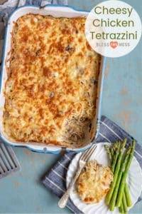 Cheesy Chicken Tetrazzini with Mushrooms   Chicken Casserole Recipe