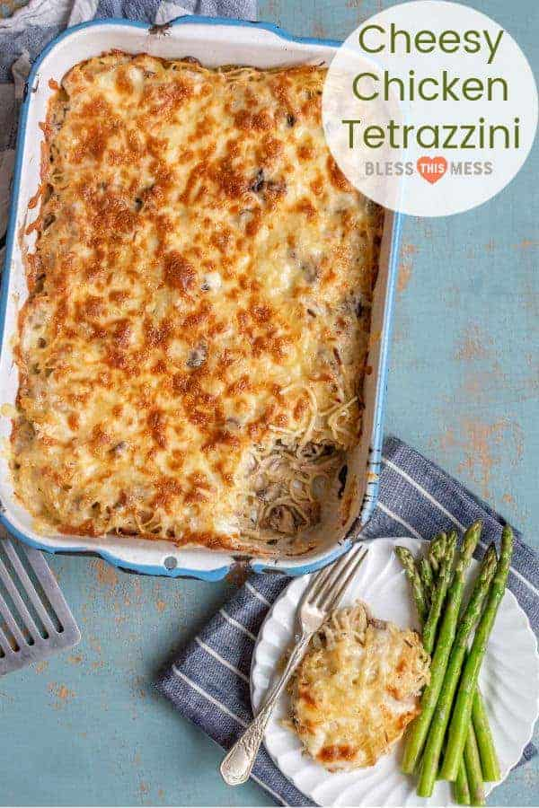 Cheesy Chicken Tetrazzini with Mushrooms | Chicken Casserole Recipe