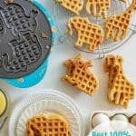 Best Homemade Whole Wheat Waffles Recipe | Simple Waffle Recipe