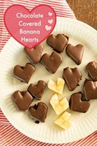 Chocolate Covered Banana Hearts | Healthy Chocolate Dessert Kids Love