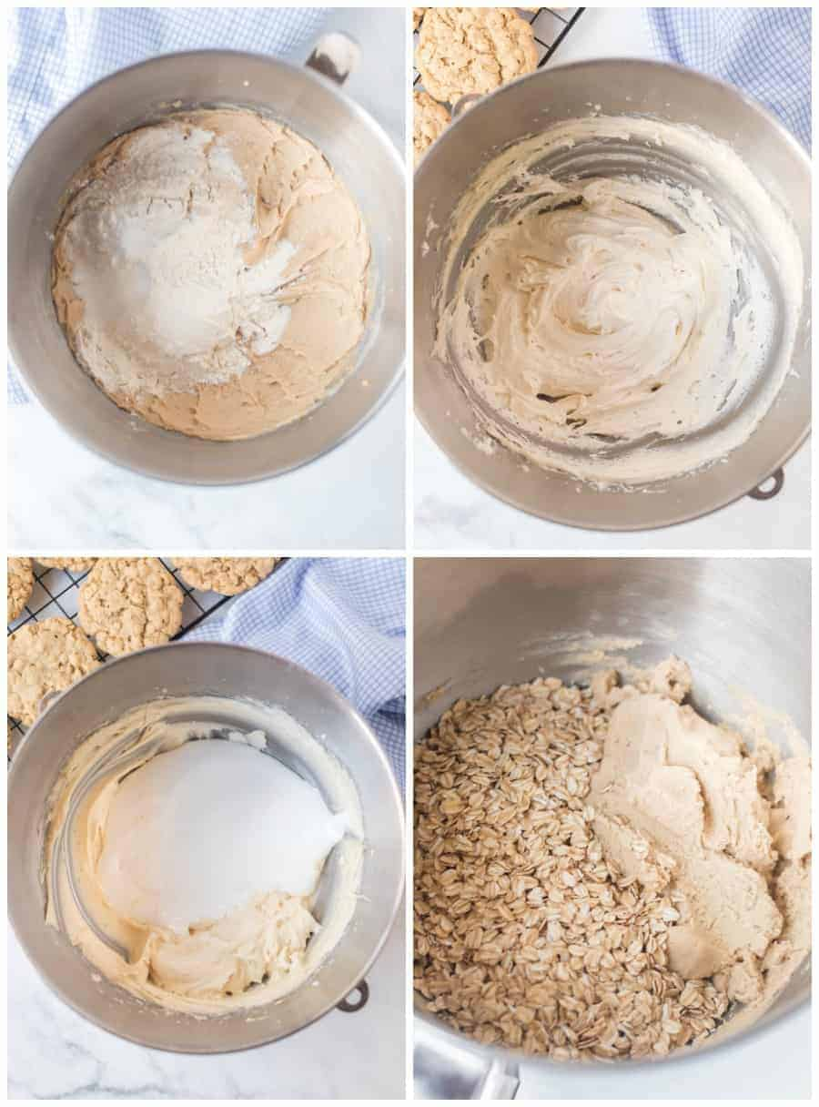 how to make oatmeal cream sandwich cookies collage image
