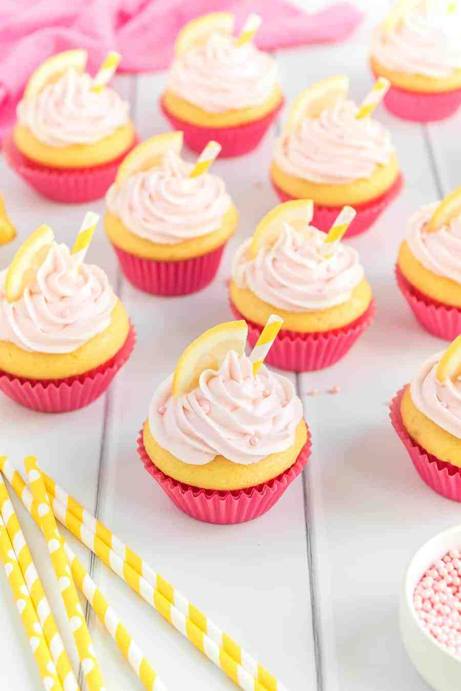 Not only are Pink Lemonade Cupcakes absolutely adorable--they're also the fluffiest tart and refreshing bite of lemony cake and frosting, perfect for any summer celebration.