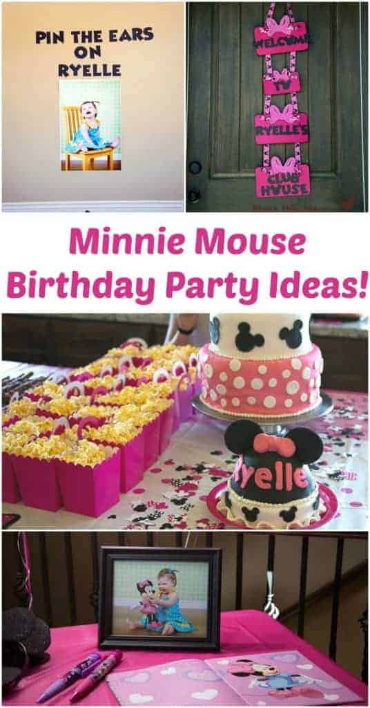 Peachy Minnie Mouse Birthday Party Cute Diy Disney Party Personalised Birthday Cards Petedlily Jamesorg