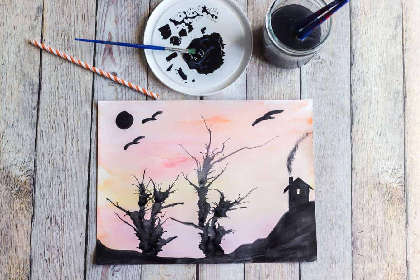 Image of a Spooky Tree Painting