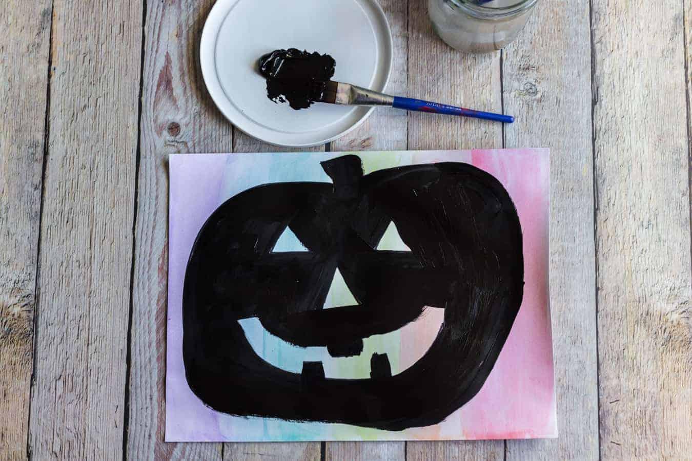 Image of Rainbow Pumpkin Art