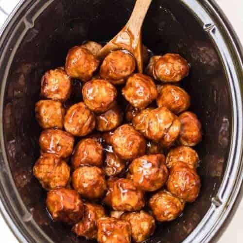 Crockpot Honey Teriyaki Meatballs
