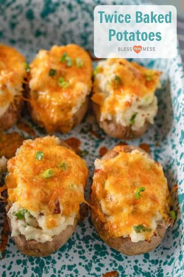 Twice Baked Potatoes Recipe with Bacon & Cheese | Easy Side Dish Idea