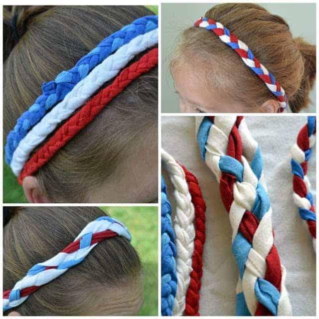 Patriotic Headbands from a T-shirt