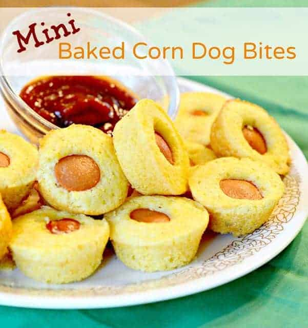 Quick simple and delicious mini baked corn dogs are the perfect easy lunch or dinner for your busy weeknights.