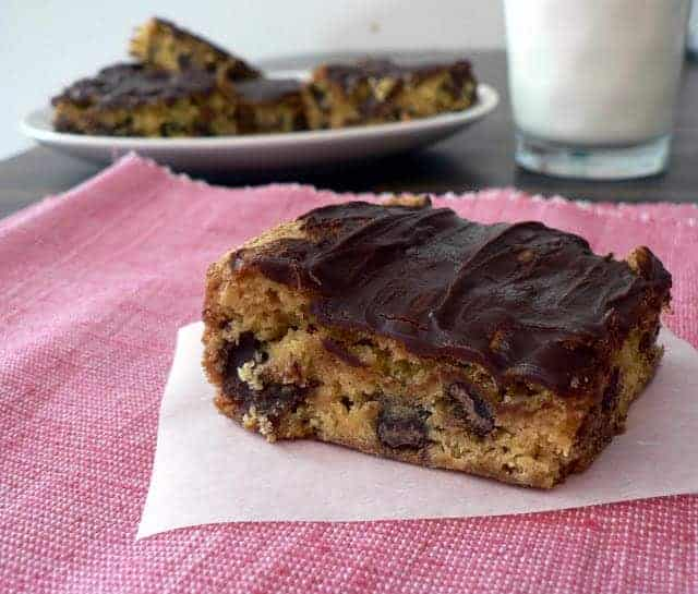 Cheater Chocolate Chip Cookie Bars
