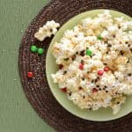 Gooey Marshmallow Christmas Popcorn with Chocolate