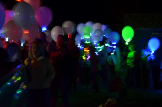 Young Women's Camp Balloon Launch