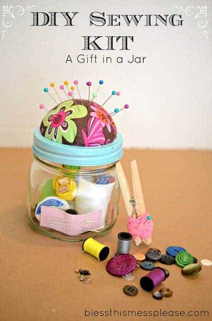 Diy sewing kit gift in a jar bless this mess diy sewing kit gift in a jar plus a favorite things giveaway solutioingenieria Gallery