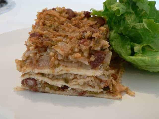 Cilantro Rice and Bean Bake