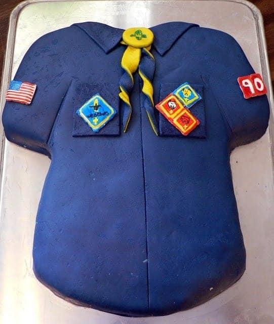 Boy Scout Shirt Cake
