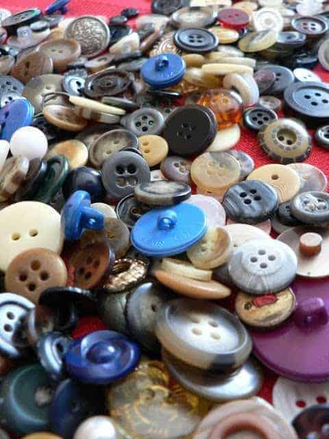 Vintage Button Napkin Rings