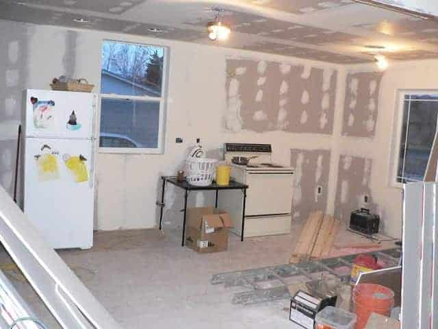 Our Biggest Mess: Almost done with drywall!