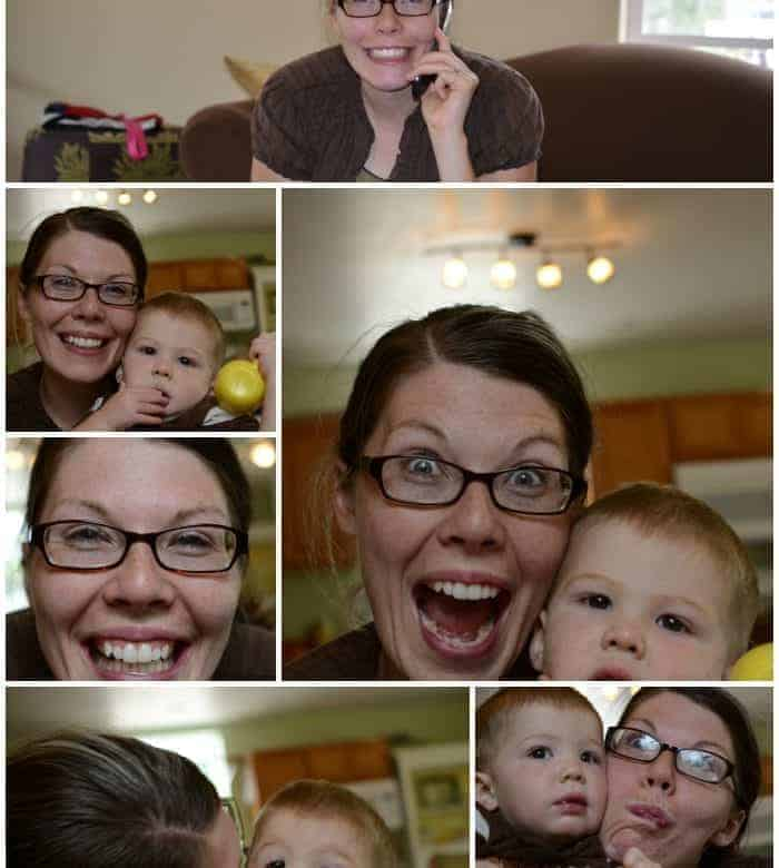 Sunday: Photo shoot by the five-year-old