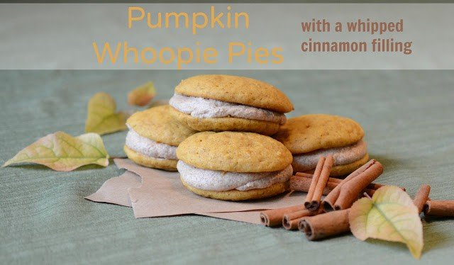 Pumpkin Whoopie Pies with a Whipped Cinnamon Filling