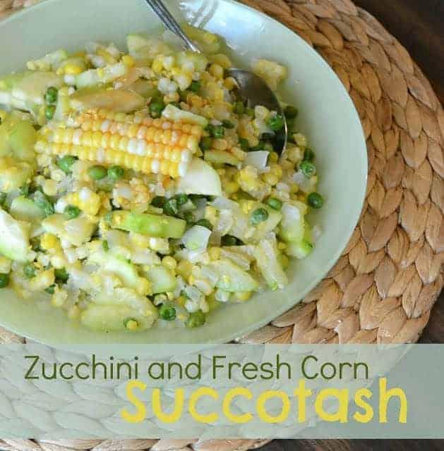 Zucchini and Fresh Corn Succotash