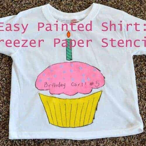 How To: Easy Painted Shirt with a Freezer Paper Stencil