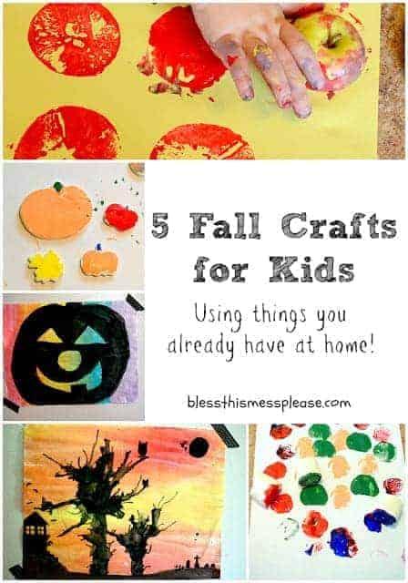 Halloween Werkjes.5 Fall Crafts For Kids Bless This Mess