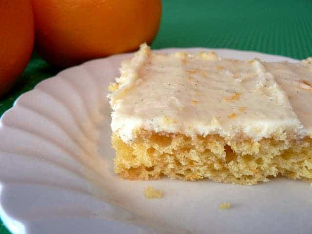Fresh Orange Cake with Orange Vanilla Bean Icing