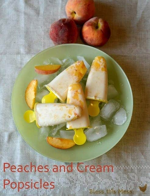 Peaches and Cream Popsicles - Bless this mess