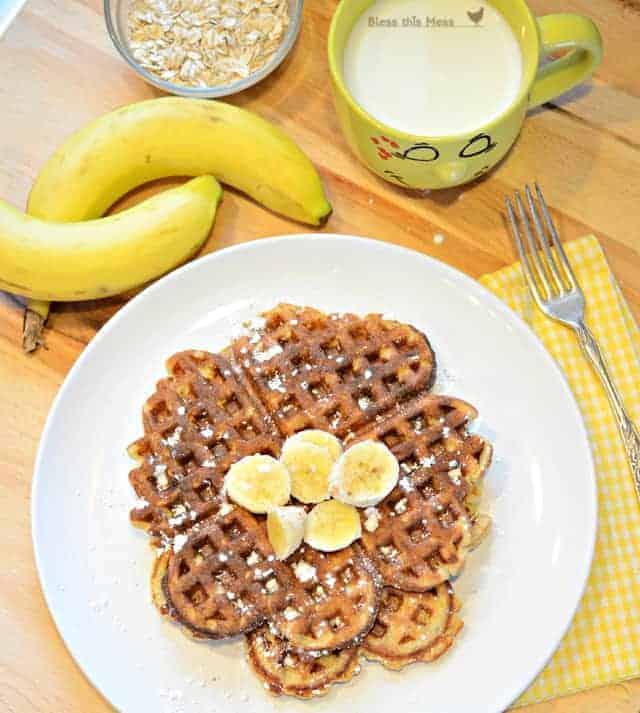 Healthy Banana Waffle