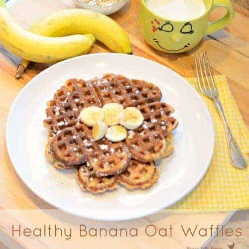 Healthy Banana Waffles Recipe