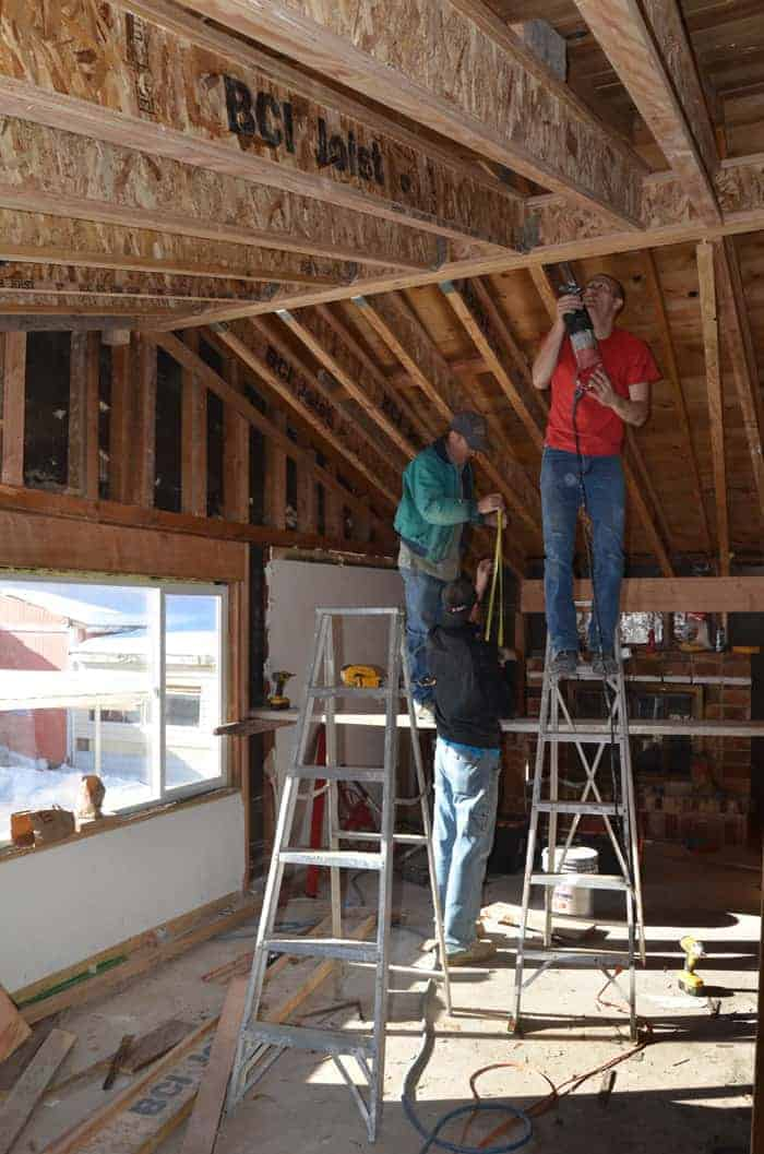 how to vault a ceiling, home repair on a budget, DIY ceiling vaulting