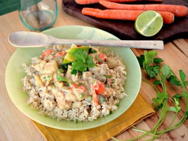 Green Thai Chicken Coconut Curry