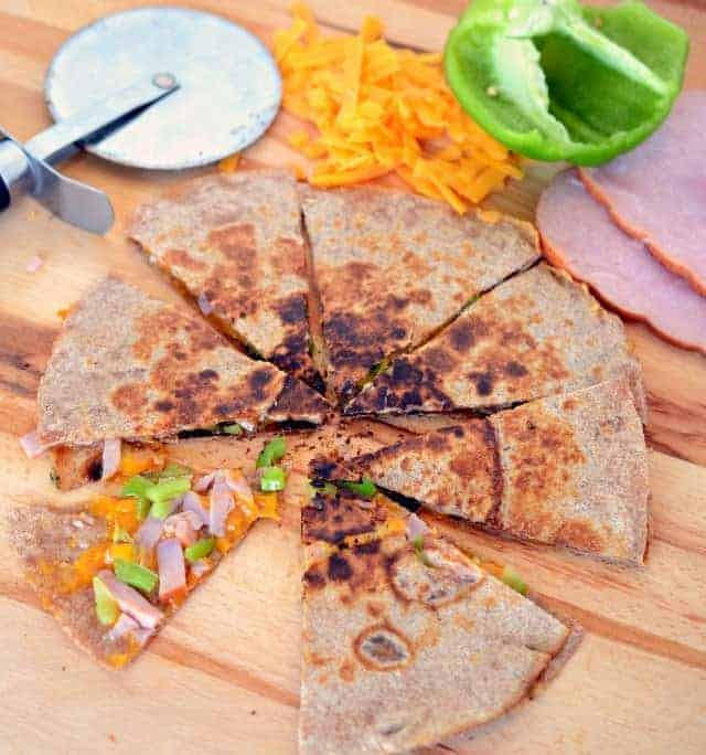 ham and cheese quesadillas, easy ham and cheese recipe, ham and cheese recipes