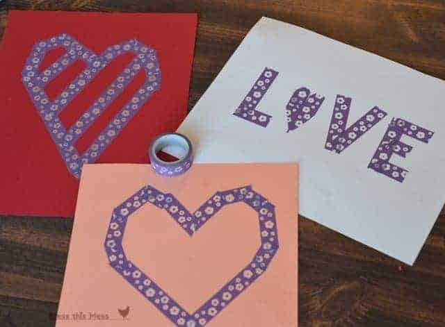 Painted Heart Valentine's Craft for Kids