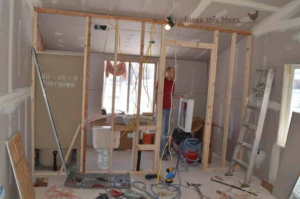 Our biggest mess adding a master bathroom bless this mess for How to add a bathroom to a house
