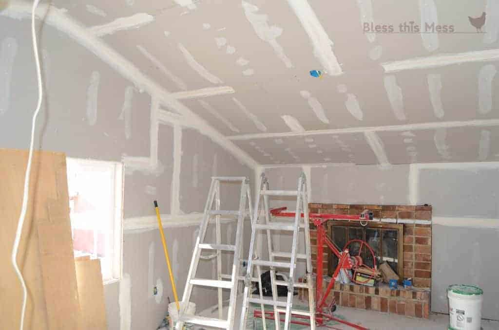 Fireplace Makeover Before Pictures, New Sheet Rock, Drywalling, How To Add  Drywall To