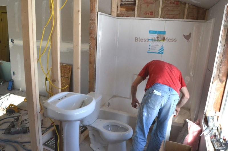 adding a bathroom, how to install a toilet and sink, remodeling before and after pictures, bonus room makeover