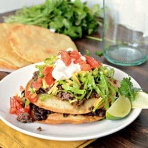 steak carnita recipe, tostada recipe, how to make tostada shells