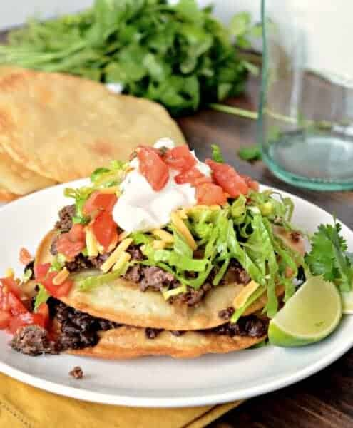 steak carnita recipe, tostada recipe, how to make tostada shells