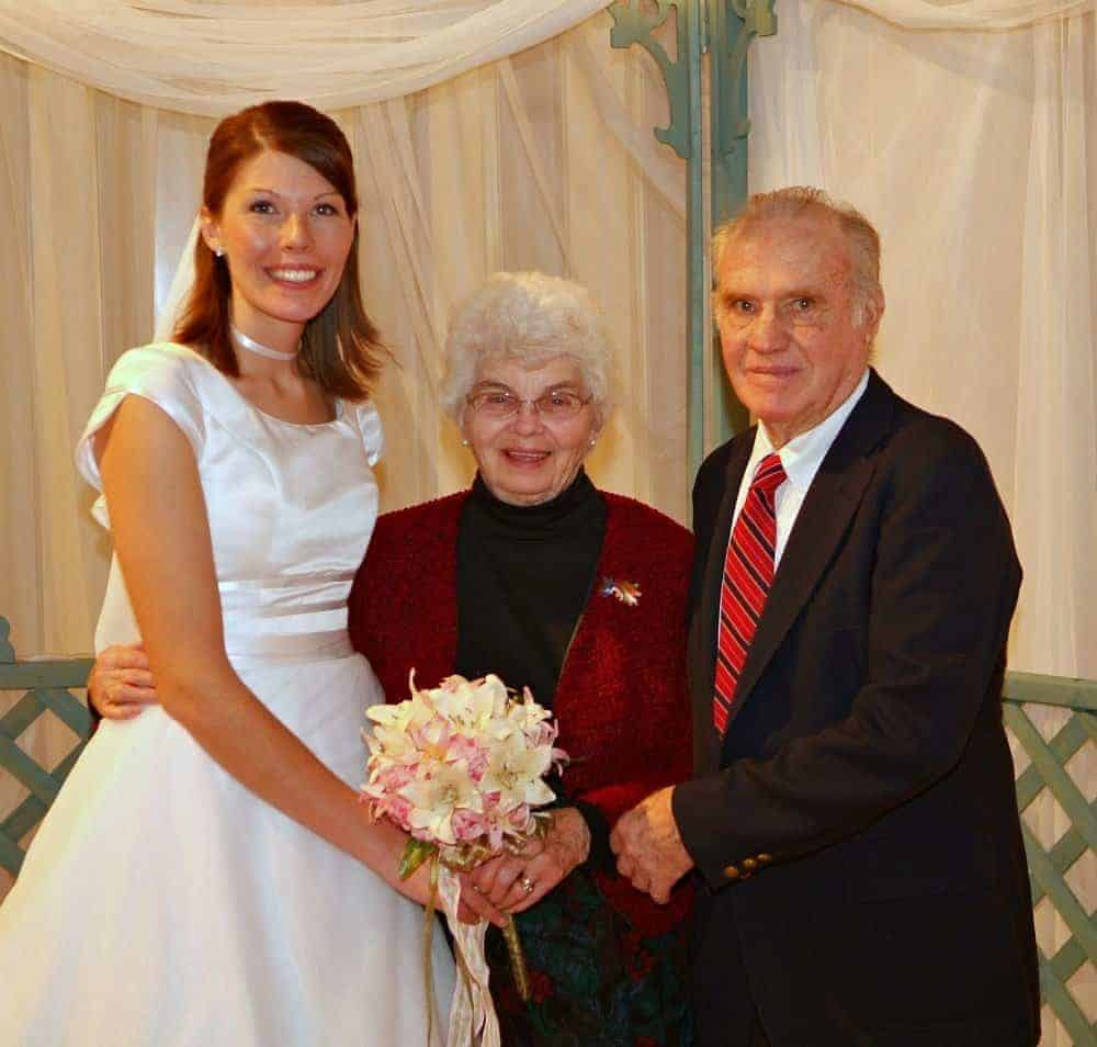 Grandma and Grandpa at my wedding